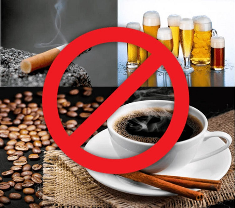 Bị viêm nha chu nên kiêng bia rượu, cafe